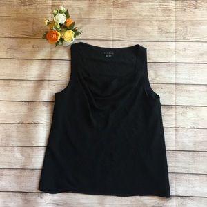 Theory black sleeveless blouse